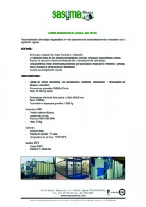 CABINA MONOBLOCK GRANALLADO MOVIL